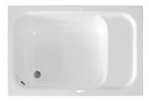 Brodzik prostokątny Roni 120x80x26 z siedziskiem