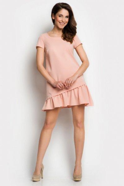 064f4b8d00 Sukienka Model A100 Pink - Sukienki - Ona stylowe swetry
