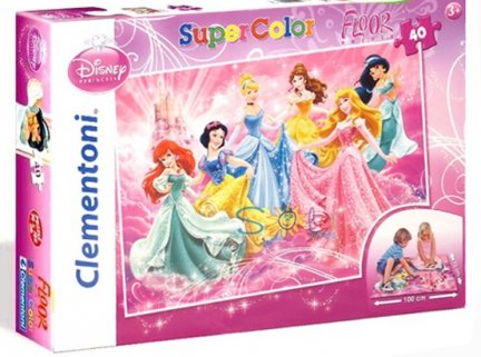 Princess GIGANT PUZZLE Podłogowe 40 elementów