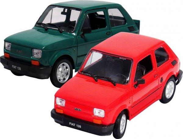 FIAT 126p Samochód PRL Duży MALUCH Auto Welly 1:21 2 kolory