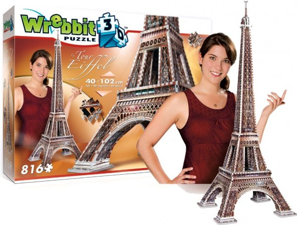 Puzzle 3D WREBBIT Wieża Eifflal PARYŻ 816 el.Tactik