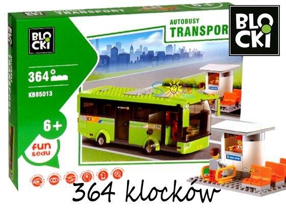 Klocki BLOCKI AUTOBUS Bus Przystanek 364 el.85013