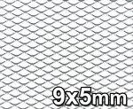 Siatka tuningowa Srebrna 9mm x 5mm 100cm x 25cm