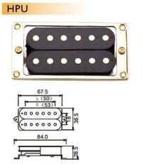 Dr.Parts HPU/B/BK/GD pickup do gitary elektrycznej