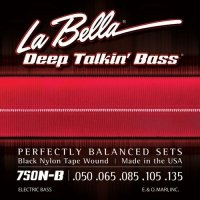 La Bella 750N-B struny basowe 50-135 black nylon