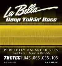 La Bella 760FGS struny basowe 45-105 szlify złote
