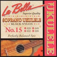 La Bella No15 ukulele sopran black