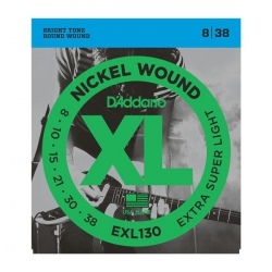 D'Addario EXL130 - XL Nickel Wound 8-38