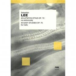 PWM Lee S. 40 łatwych etiud op. 70 na wiolonczelę