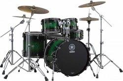 YAMAHA Live Custom:Emerald Shadow Sunburst shell set