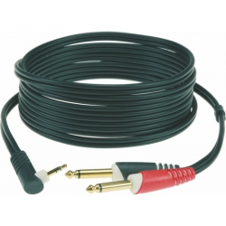Klotz AY5A0100 kabel TRS 3,5mm 2x TS 6,3mm