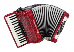 Weltmeister Kristall 30/60/III/5 akordeon czerwony