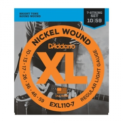 D'Addario EXL110-7 - XL Nickel Wound 7-String 10-59