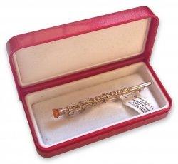 Biżuteria klarnet broszka