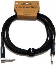 Proel LiveWire LIVEW120LU3 - kabel instrumentalny mono jack kątowy 3m