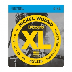 D'Addario EXL125 - XL Nickel Wound 9-46