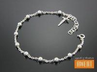 Różaniec srebrny bransoletka na rękę