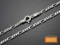 FIGARO łańcuszek srebrny diamentowany 45 cm / 2,5 mm