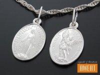 Medalik srebrny św. Michał Archanioł - Matka Boska Cudowna