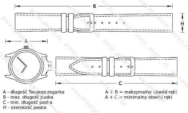 TIMEX T5K755 oryginalny pasek 16 mm