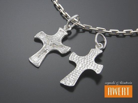 Krzyżyk srebrny z Jezusem