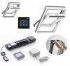 automatische dachfenster velux glu 0061 aus kunststoff 3 fach verglasung uw 1 1 integra kmx. Black Bedroom Furniture Sets. Home Design Ideas