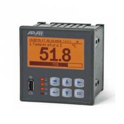 Rejestrator danych uniwersalny 8-kanałowy temperatury i sygnałów analogowych APAR AR205-8 wyświetlacz LCD tablicowy 96x96 mm