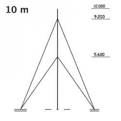 Maszt pomiarowy gruntowy aluminiowy 10 m PM Ecology MST-110 maszt anemometryczny, meteorologiczny, teleskopowy