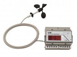 Wiatromierz sygnalizacyjny anemometr A-Ster A-144-R rejestrator wiatru alarmowy