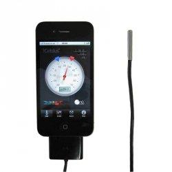 Czujnik temperatury TFA 30.3507 iCELSIUS termometr przewodowy do smartfonu iOS