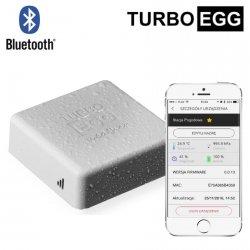 Stacja meteo bezprzewodowa TurboEgg Weather Station termo-higro-barometr Bluetooth do smartfonu z trybem on-line monitor klimatu pomieszczenia