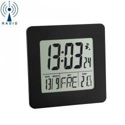 Budzik biurkowy TFA 60.2525 zegar elektroniczny sterowany radiowo z termometrem