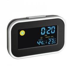 Budzik biurkowy TFA 60.2015 zegar elektroniczny z termohigrometrem