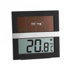 Termohigrometr domowy TFA 30.5017 ECO SOLAR elektroniczny wewnętrzny z panelem słonecznym