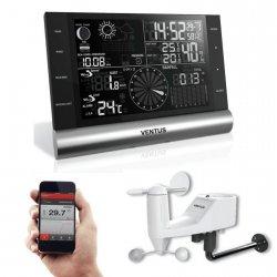 Stacja pogody bezprzewodowa Bluetooth Ventus W820 zewnętrzna wiatr, opady