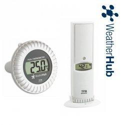 Czujnik temperatury i wilgotności bezprzewodowy TFA 30.3310 z czujnikiem basenowym temperatury wody do WeatherHub