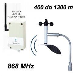 Wiatromierz bezprzewodowy Navis W110-WSD anemometr mechaniczny z czujnikiem temperatury wyjście analogowe