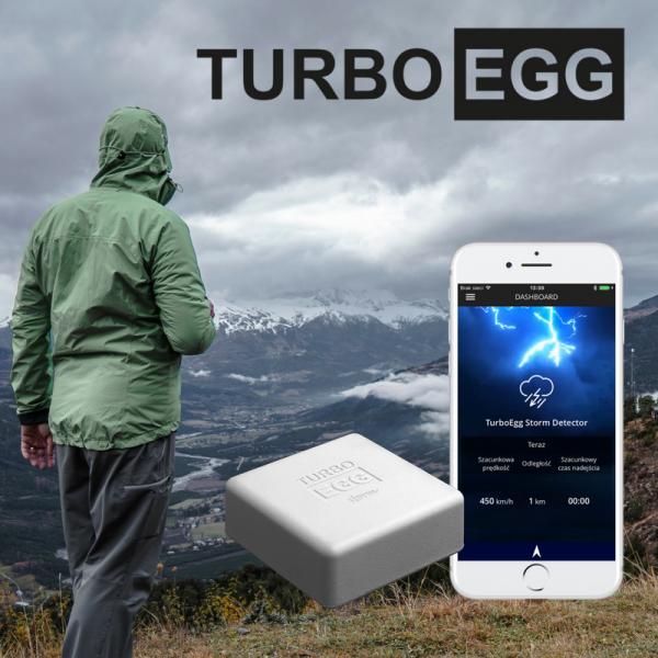 Detektor wyładowań atmosferycznych bezprzewodowy TurboEgg Storm Detector detektor burz Bluetooth do smartfonu