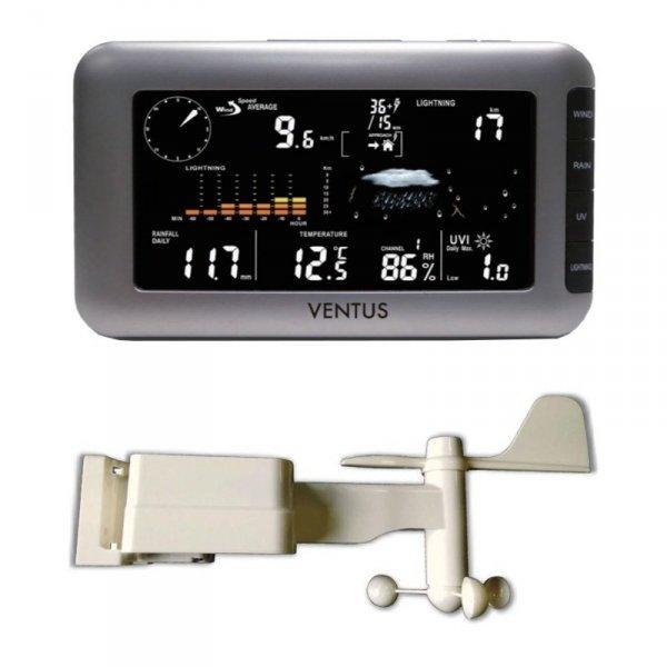 Stacja pogody bezprzewodowa Ventus W266 zewnętrzna UV detektor wyładowań