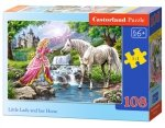 Puzzle Little Lady and her Horse 108