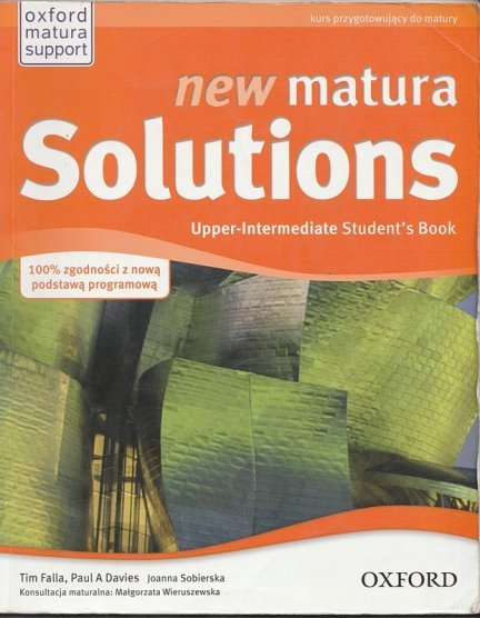 New Matura Solutions Student's Book Upper-Intermediate