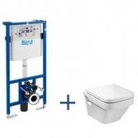 Zestaw podtynkowy Duplo + miska WC podwieszana Dama-N Compacto A89009000P