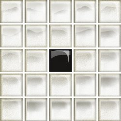 OPOCZNO glass white/black mosaic a new 14,8x14,8 g1 szt