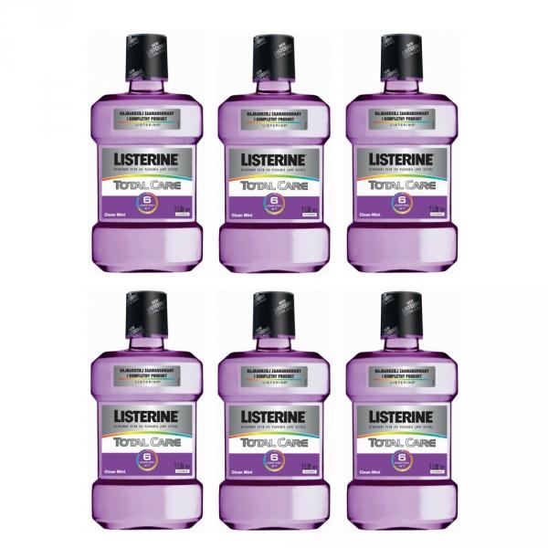 6 x Listerine płyn Total Care 6w1 1000 ml /1L/