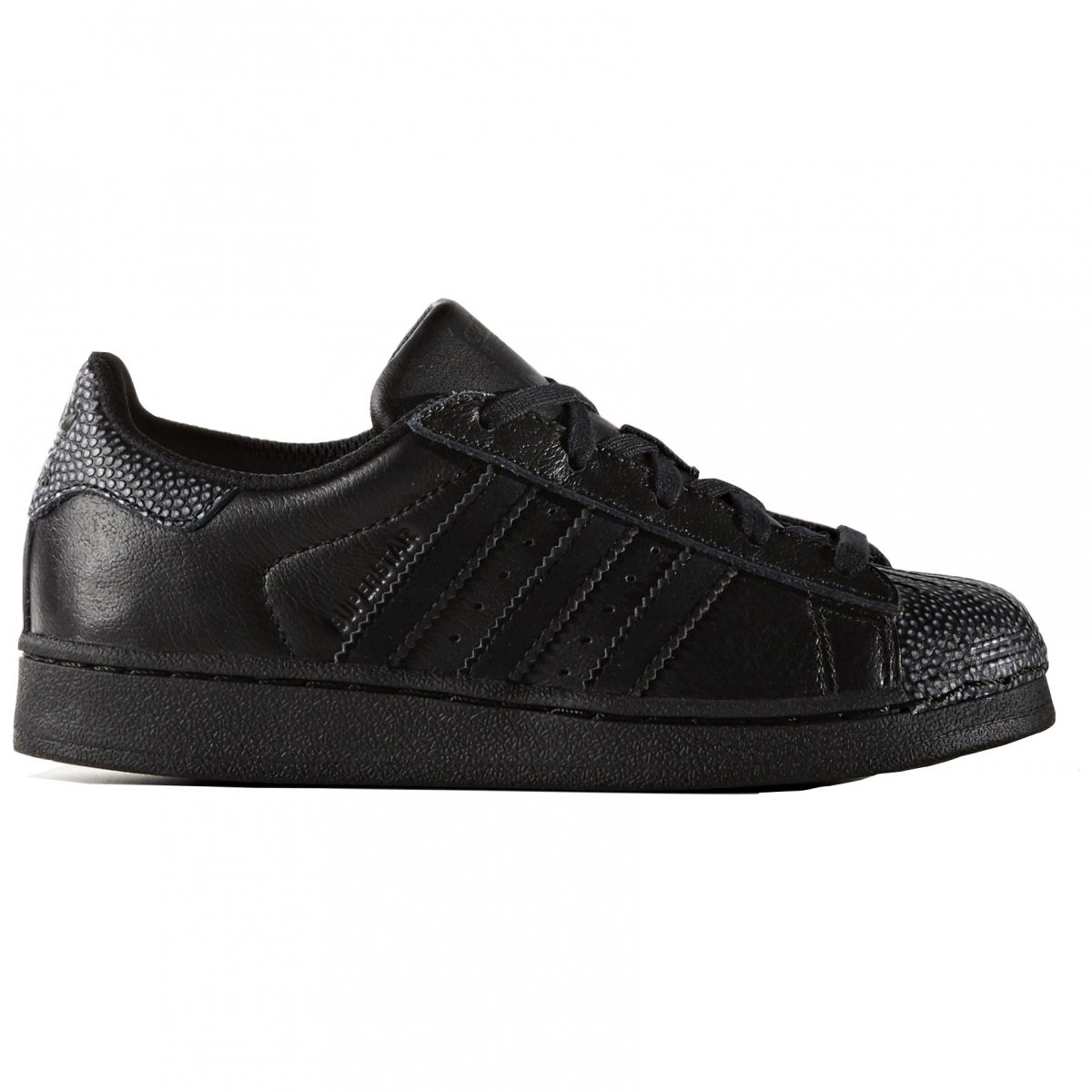 a566e95fc Details about ADIDAS ORIGINALS SUPERSTAR RAY BLACK Boys Kid Shoes Sneakers  C B27521