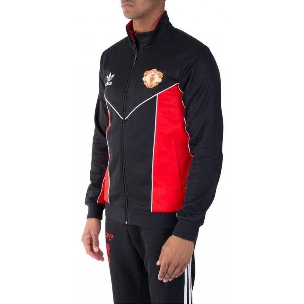 Details zu ADIDAS ORIGINALS MANCHESTER UNITED FC Herren TrackTop Zip Sweatjacke AZ1238