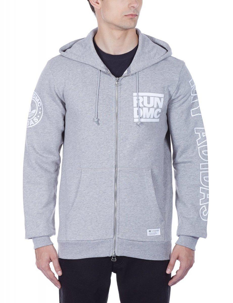 Adidas Run DMC Originals Men's Full Zip Hooded Sweat Jacket
