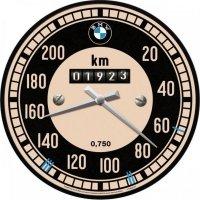 BMW Zegar ścienny na ścianę okrągły retro vintage predkosciomierz