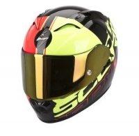 Scorpion Exo-1200 AIR QUARTERBACK kask motocyklowy czerwono-żółto-cz<br />arny fluo