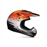 KASK EVS JUNIOR T3 WORKS ORANGE/WHITE/BLACK